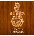 Merry Christmas Snowman symbol vector image vector image