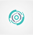 modern circle tech symbol design template vector image vector image