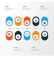 multimedia icons colored line set with headphone vector image vector image
