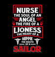nurse quotes typographic design vector image