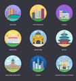 pack of world cities 13 vector image vector image