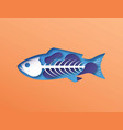 papercut fish skeleton with toxic pollution inside vector image vector image