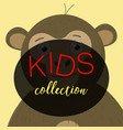 poster frame for kids with little monkeys vector image vector image