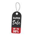 price tag super sale up to 50 image vector image