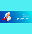protection concept man with super abilities or a vector image vector image