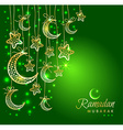 Ramadan Kareem celebration greeting card vector image vector image