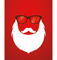 Santa beard and glasses vector image vector image