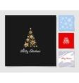 set christmas tree decoration background vector image