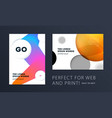 set of design of brochure soft template cover vector image