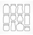 set of figured glass jars vector image