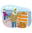 Shopping in Grocery Market or Mall vector image