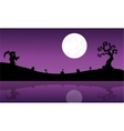 Silhouette of warlock in riverbank Halloween vector image vector image