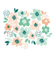 simple pale color floral decorative design in vector image vector image