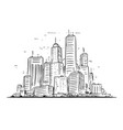 sketchy drawing city high rise landscape vector image