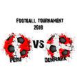 soccer game peru vs denmark vector image vector image