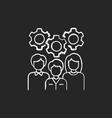 staff training chalk white icon on black vector image vector image