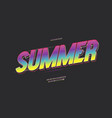 Summer party font 3d bold color style