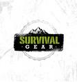 survival gear extreme outdoor adventure creative vector image vector image