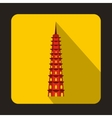 Temple icon flat style vector image vector image