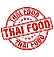 thai food red grunge round vintage rubber stamp vector image vector image