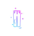 trouser icon design vector image vector image