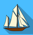 vintage boat explorerssailboat on which ancient vector image
