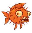 wacky cartoon blowfish vector image