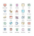 web design flat icons pack vector image vector image