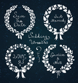 Wedding wreaths vector image vector image
