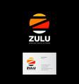 z letter zulu logo africa travel tours emblem