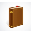 old book with bookmark isolated icon vector image