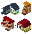 3d design for houses in different style vector image vector image