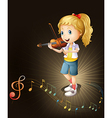 A talented violin player vector image