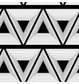 abstract background of triangles black and white vector image