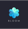abstract modern blossom flower logo icon template vector image