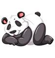 Adorable panda vector image vector image