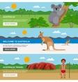 Australia Travel Horizontal Banners Set vector image vector image