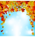 Autumnal sky bright design EPS 8 vector image vector image