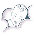 baby dream sweet sleeping child design vector image vector image