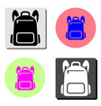backpack flat icon vector image