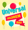 balloon children day concept background flat vector image