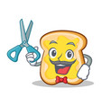 barber slice bread cartoon character vector image vector image