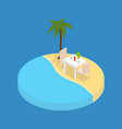 beach vacation element 3d isometric view vector image vector image