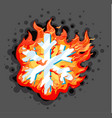 burning snowflake vector image