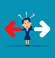 business people dont know which way to choose vector image vector image