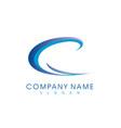 c wave logo vector image