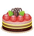cake with strawberry vector image
