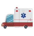 cartoon ambulance medical vector image