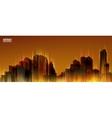 City Skylines Orange night background Panorama vector image vector image