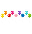 colorful balloon collection isolated white vector image vector image